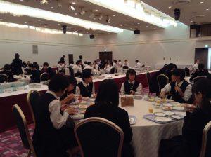 9月29日、函館国際ホテルでの朝食風景