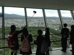 H28.9.29 最終日 五稜郭タワー展望台から五稜郭を見学